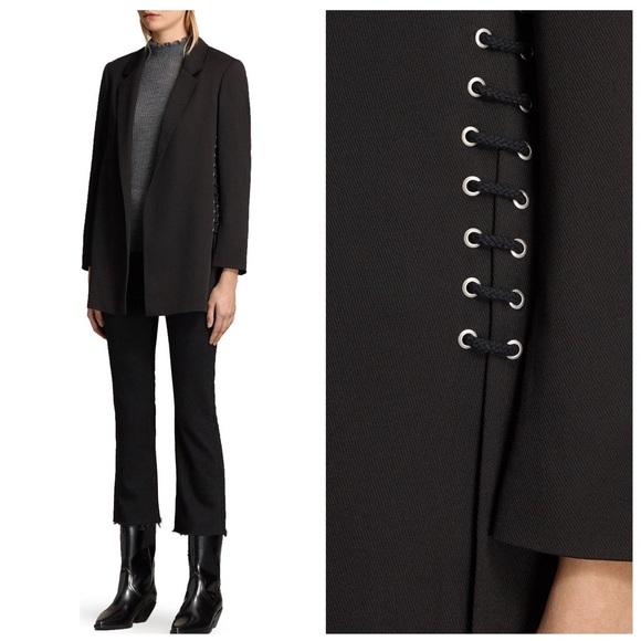 All Saints Jackets & Blazers - Allsaints Alexia laced blazer 10 black open front